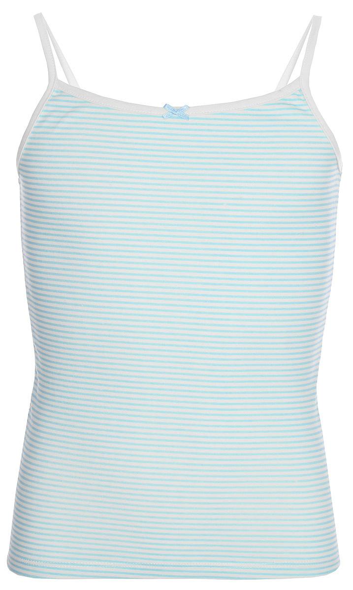 Майка для девочки Sela, цвет: голубой. Tslub-5652/147-8111. Размер 140/146