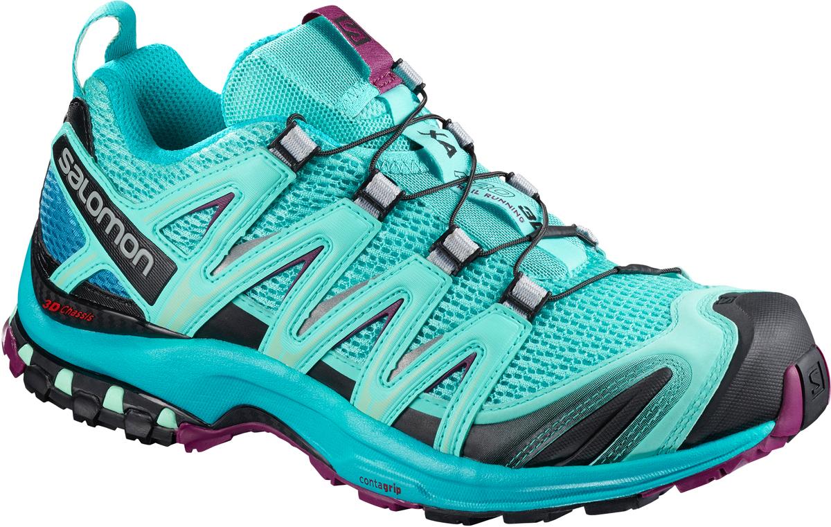 Кроссовки для бега женские Salomon Xa Pro 3D W, цвет: голубой. L40089600. Размер 5,5 (37)L40089600XA PRO 3D — легендарная обувь, воплотившая в себе технологии для приключений в любых условиях.Шасси 3D Advanced Chassis — вас ничто не остановит. Максимально эффективное сцепление Premium Wet — это больше, чем технология, это образ мысли. Просто игнорируйте сырость и рвитесь вперед.Усиленная накладка на мыске и стратегически размещенные защитные вставки: эта обувь отлично справляется со своей задачей сохранить ваши ноги в форме.