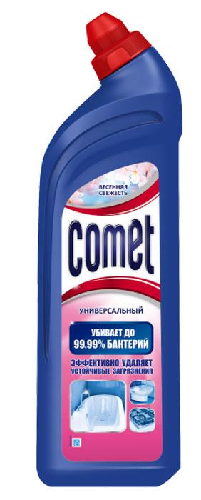 """Чистящий гель """"Comet"""" предназначен для глубокого очищения поверхностей. Эффективно удаляет повседневные загрязнения и обычный жир во всем доме, а также дезинфицирует поверхности. Средство подходит для плит (в том числе стеклокерамических), ванн, раковин, унитазов, кафеля, мытья полов. Обладает приятным ароматом.             Характеристики:  Объем: 500 мл. Производитель:  Россия.   Товар сертифицирован.    Уважаемые клиенты! Обращаем ваше внимание на возможные изменения в дизайне упаковки. Качественные характеристики товара остаются неизменными. Поставка осуществляется в зависимости от наличия на складе.    Как выбрать качественную бытовую химию, безопасную для природы и людей. Статья OZON Гид"""