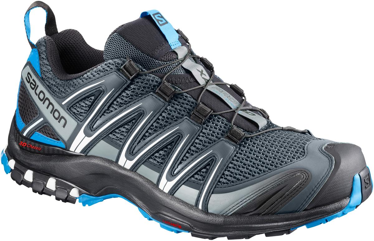 Кроссовки для бега мужские Salomon Xa Pro 3d, цвет: синий. L40074500. Размер 9 (42)L40074500Мужские кроссовки для бега Salomon выполнены из текстиля. Подъем оформлен шнуровкой, благодаря которой обувь сидит плотно на ноге. Язычок дополнен текстильной нашивкой с символикой бренда. Мягкая верхняя часть и подкладка, изготовленная из текстиля, обеспечивают дополнительный комфорт и предотвращают натирание. Благодаря технологии 3D Advanced Chassis вы преодолеете даже самый сложный маршрут. Максимально эффективное сцепление Premium Wet - это больше, чем технология, это образ мысли. Просто игнорируйте сырость и рвитесь вперед. Усиленная накладка на мыске и стратегически размещенные защитные вставки: эта обувь отлично справляется со своей задачей сохранить ваши ноги в форме. Такие кроссовки займут достойное место в коллекции вашей спортивной обуви.