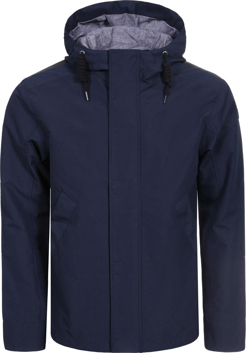 Куртка мужская Luhta, цвет: темно-синий. 939537348LV_387. Размер 50939537348LV_387Мужская куртка Luhta выполнена из полиэстера. Модель с капюшоном застегивается на застежку-молнию и дополнительно на клапан с кнопками. По бокам расположены прорезные карманы. Капюшон регулируется с помощью шнурка.
