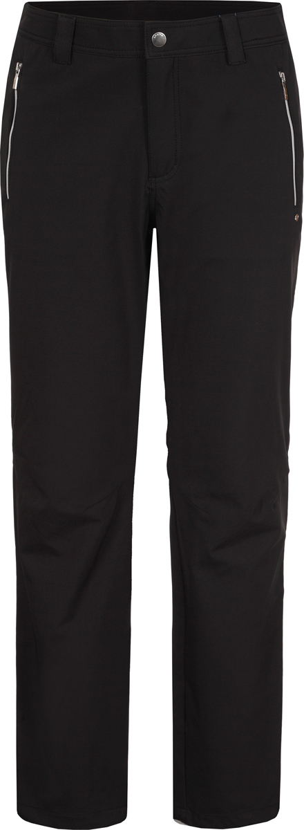 Брюки женские Luhta, цвет: черный. 939701374LV_990. Размер 40 (46/48)939701374LV_990Женские брюки от Luhta выполнены из эластичного полиэстера. Модель застегивается на кнопку в талии и ширинку на застежке-молнии. У брюк имеются шлевки для ремня. Спереди брюки дополнены двумя прорезными карманами на застежках-молниях.