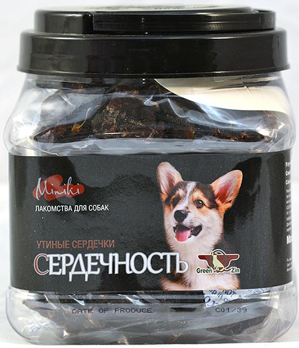 Лакомство для собак GreenQZin Миники Сердечность, сушеные утиные сердечки для мини пород, 375 г chewell лакомство для собак всех пород утиные чипсы уп 100г