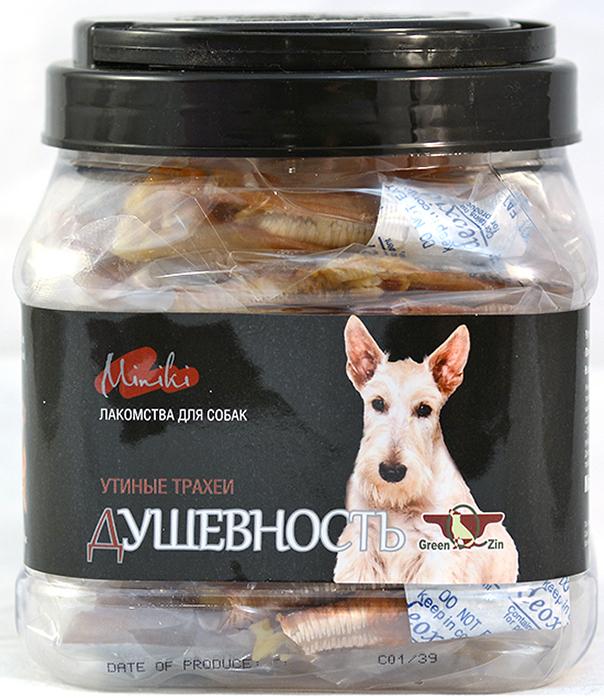 Лакомство для собак GreenQZin  Миники Душевность , сушеная утиная трахея для мини пород, 200 г - Корма и лакомства