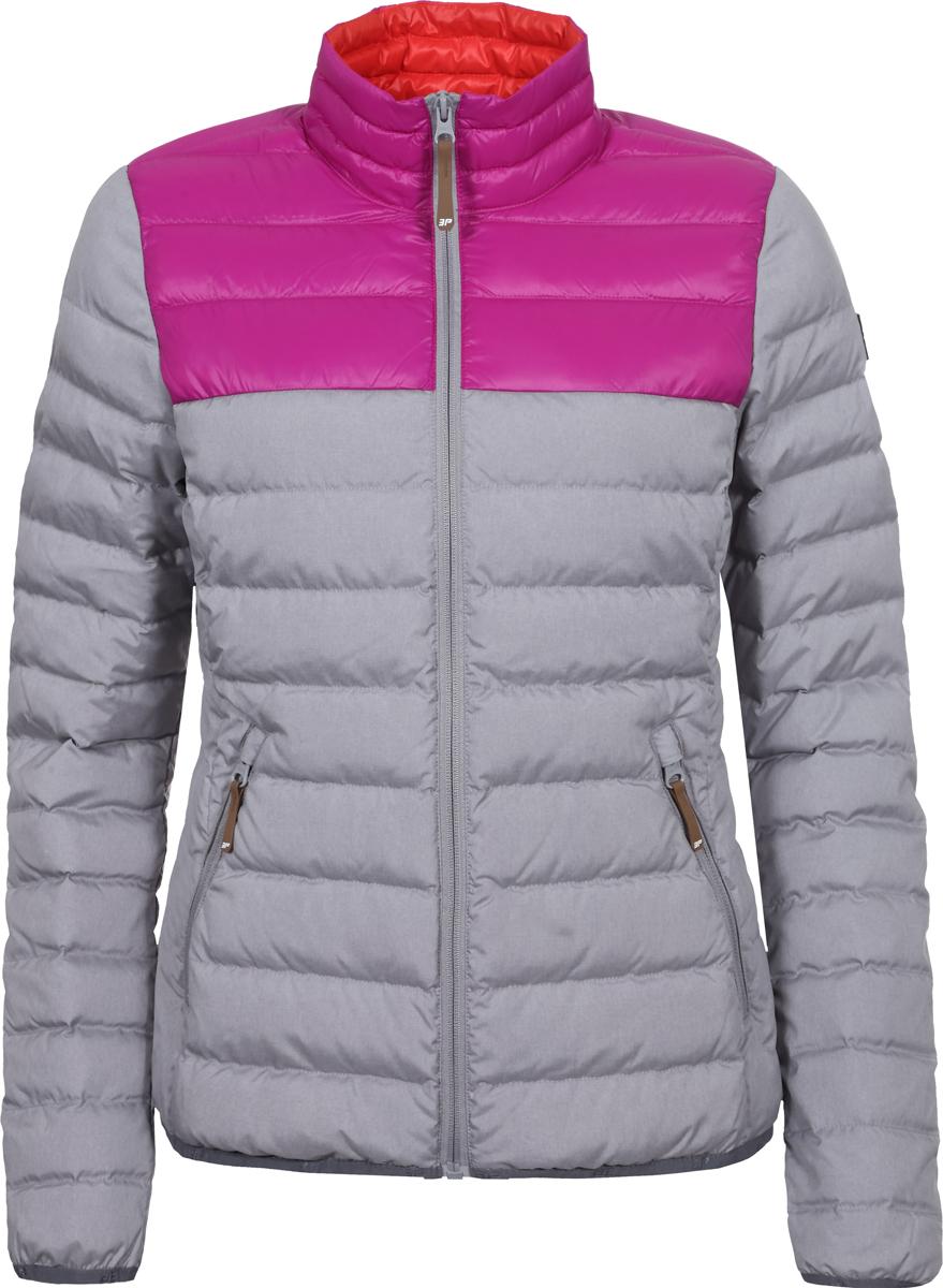 Куртка женская Icepeak, цвет: серый. 953006352IXV_810. Размер 40 (46/48)953006352IXV_810Женская стеганая куртка Icepeak выполнена из полиэстера. Модель застегивается на молнию. Имеет приталенный силуэт, воротник-стойку и два кармана на молнии.