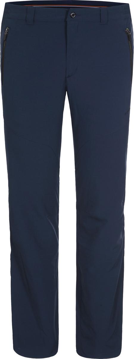 Брюки мужские Icepeak, цвет: cиний. 957112522IV_384. Размер 54957112522IV_384Утепленные мужские брюки Icepeak выполнены из полиэстера с добавлением эластана. Модель имеет стандартную посадку, застегивается на пуговицу и ширинку с молнией. Имеются шлевки для ремня и два прорезных кармана на молнии.