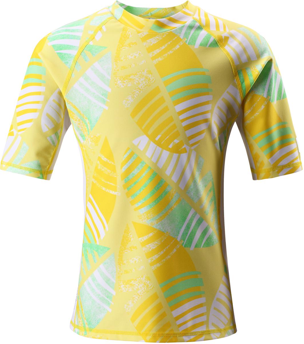 Футболка для плавания детская Reima Fiji, цвет: желтый. 5362682331. Размер 1525362682331