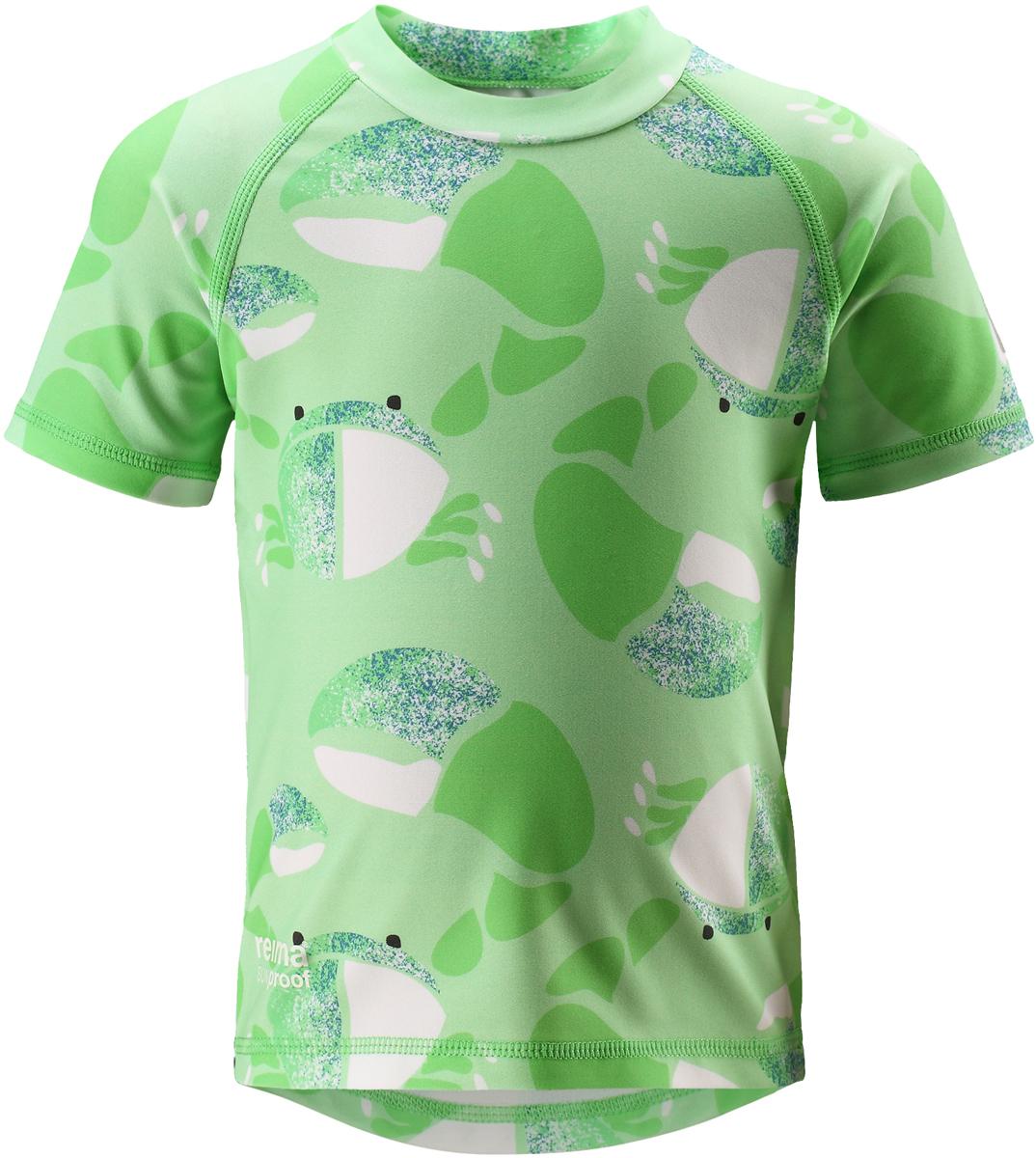 Футболка для плавания детская Reima Azores, цвет: зеленый. 5163518073. Размер 985163518073