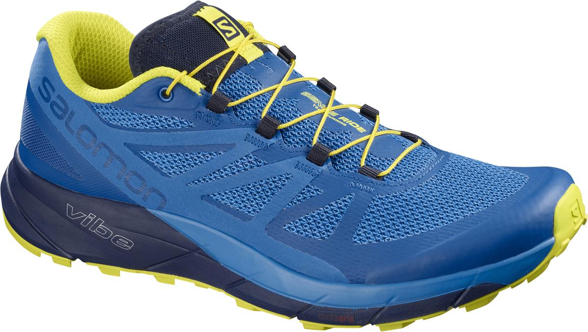 Кроссовки для бега мужские Salomon Sense Ride, цвет: синий. L40237800. Размер 11,5 (45)