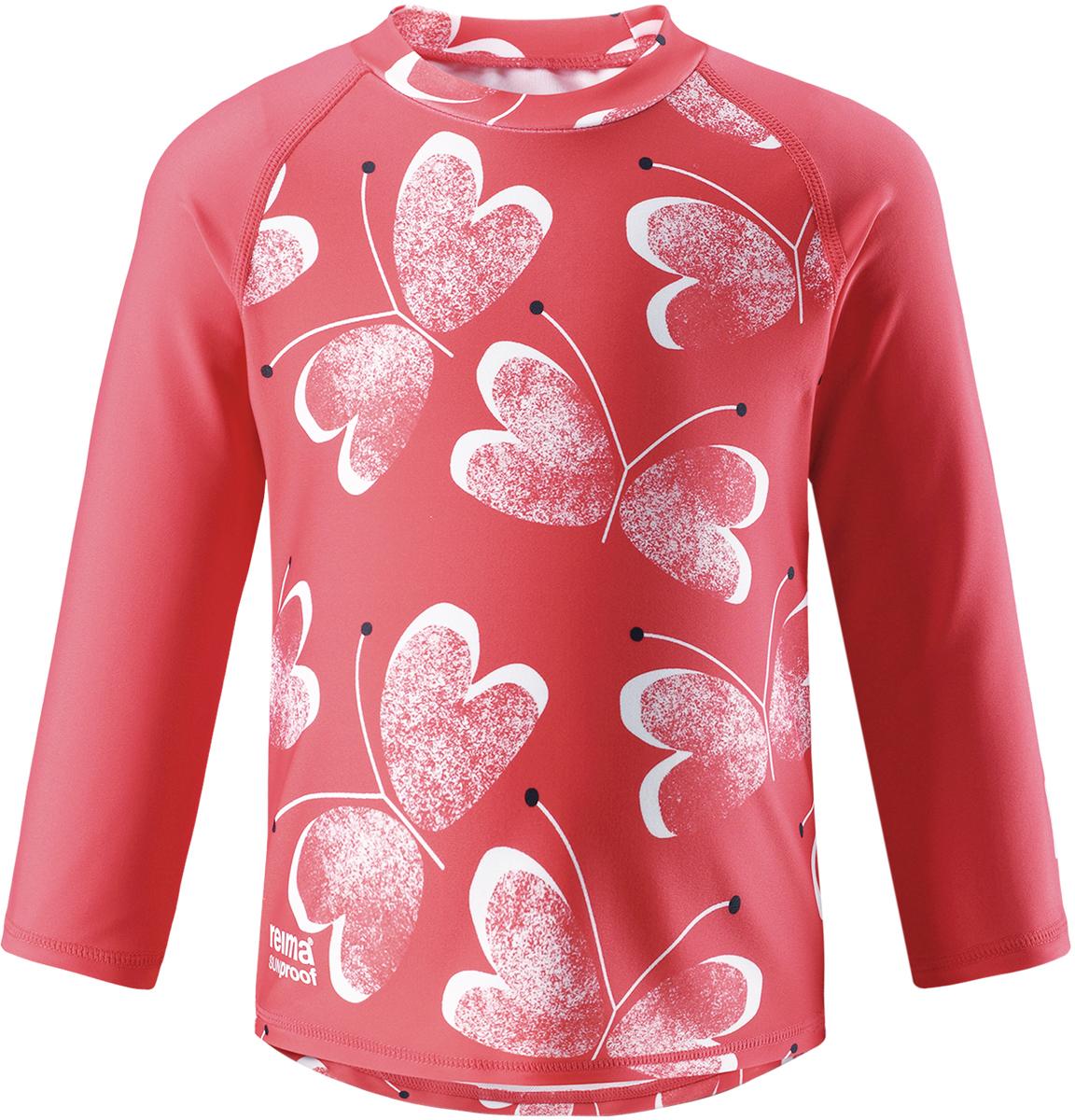 Футболка для плавания детская Reima Borneo, цвет: розовый. 5163493343. Размер 925163493343