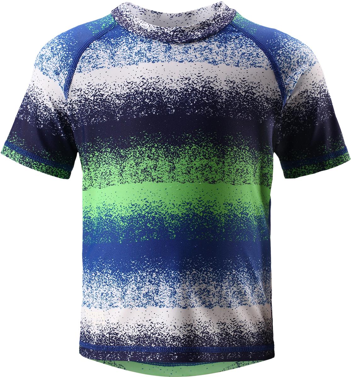 Футболка для плавания детская Reima Azores, цвет: синий, зеленый. 5163516645. Размер 925163516645