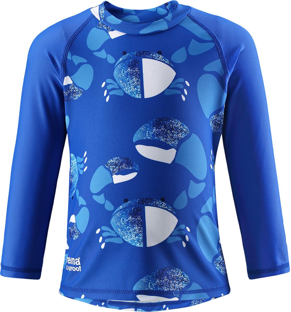 Футболка для плавания детская Reima Borneo, цвет: синий. 5163496643. Размер 925163496643