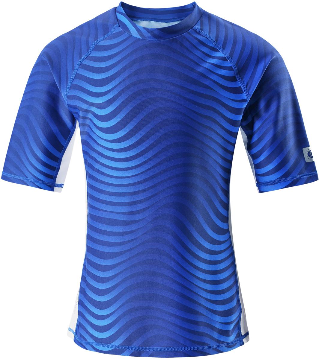 Футболка для плавания детская Reima Fiji, цвет: синий. 5362686642. Размер 1285362686642