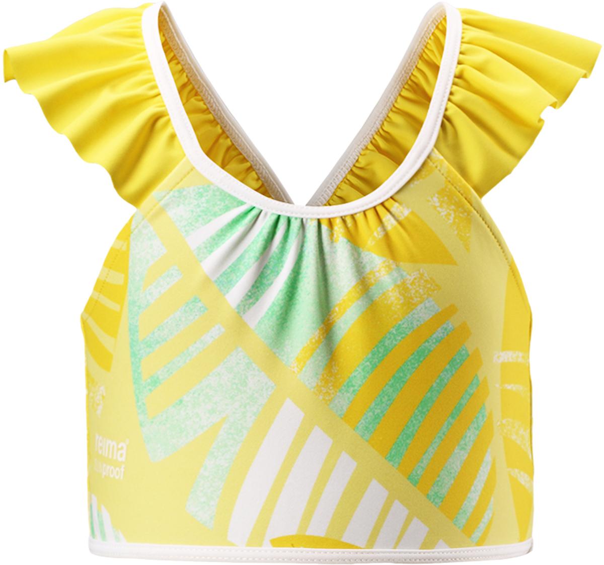 Футболка для плавания для девочки Reima Calamari, цвет: желтый. 5262942331. Размер 985262942331
