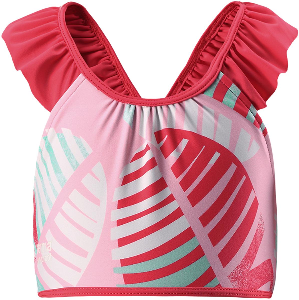 Футболка для плавания для девочки Reima Calamari, цвет: светло-розовый. 5262943341. Размер 1045262943341
