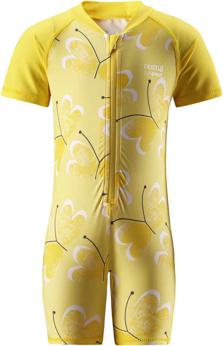 Купальный костюм детский Reima Odessa, цвет: желтый. 5163452333. Размер 925163452333Купальный костюм от Reima для малышей из материала SunProof позволит весело поплескаться на солнце. Купальный костюм обеспечивает эффективную защиту вплоть до локтей и запястий от вредных солнечных лучей благодаря УФ-фильтру 50+. Эластичный материал быстро сохнет, а молния по всей длине спереди облегчает процесс одевания.