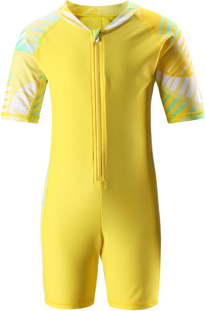 Купальный костюм детский Reima Galapagos, цвет: желтый. 5262912331. Размер 1345262912331