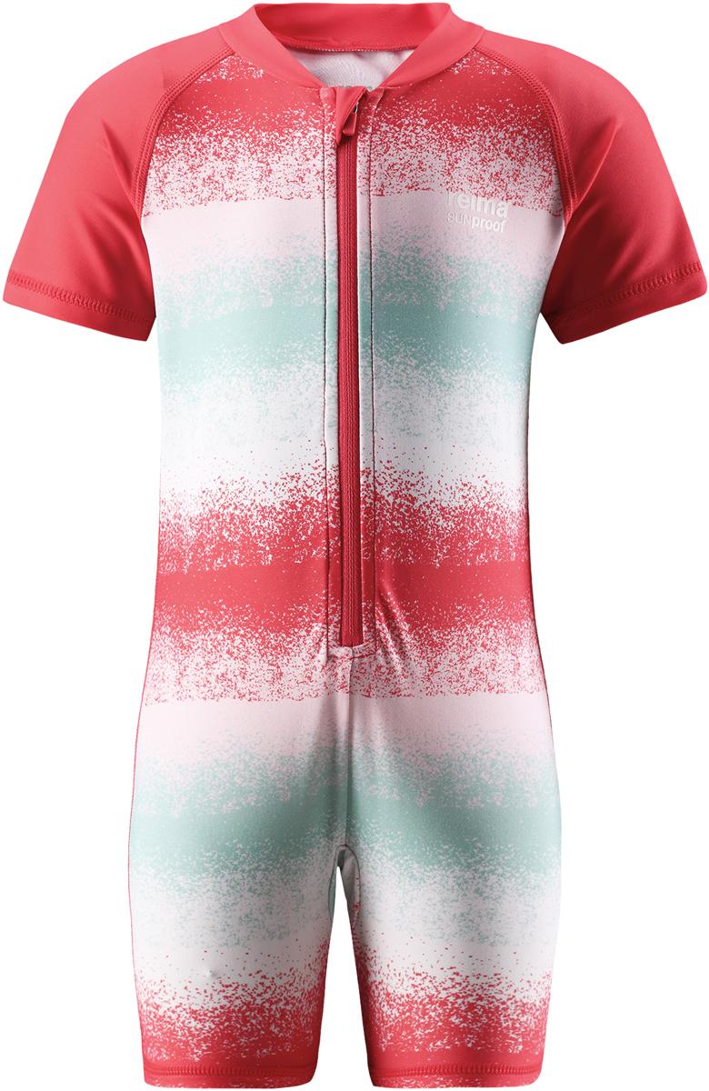 Купальный костюм детский Reima Odessa, цвет: красный, голубой. 5163453345. Размер 805163453345