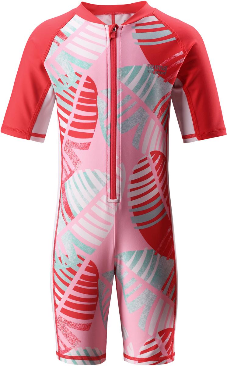 Купальный костюм детский Reima Galapagos, цвет: светло-розовый. 5262913341. Размер 1105262913341