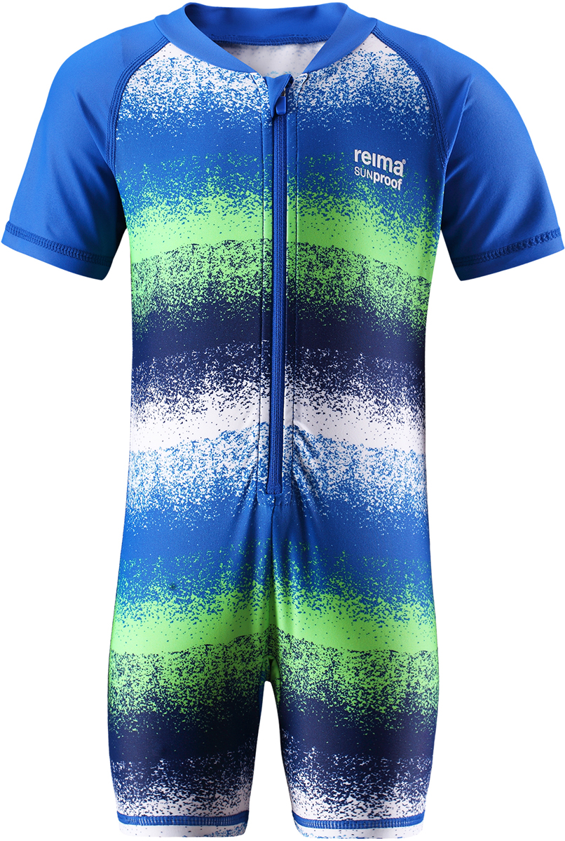 Купальный костюм детский Reima Odessa, цвет: синий, зеленый. 5163456645. Размер 805163456645