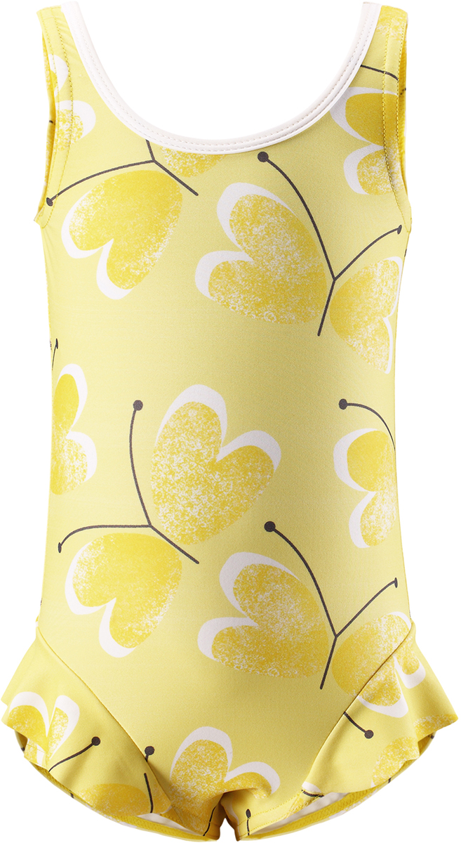 Купальник слитный для девочки Reima Corfu, цвет: желтый. 5163502333. Размер 805163502333