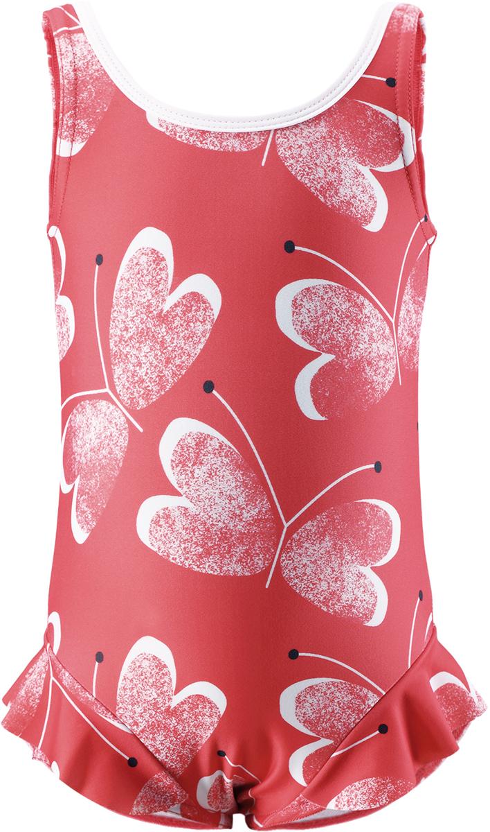 Купальник слитный для девочки Reima Corfu, цвет: розовый. 5163503343. Размер 98 reima купальник corfu