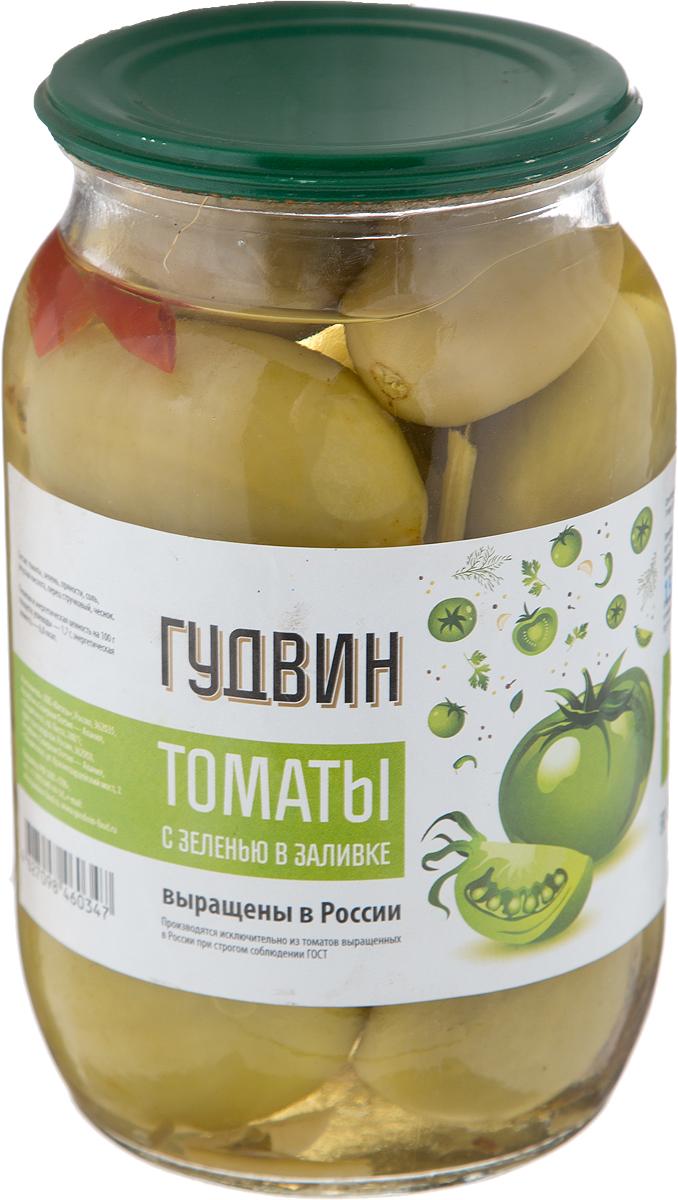 Гудвин томаты с зеленью в заливке, 950 г шпроты либава в ягодной заливке 180г