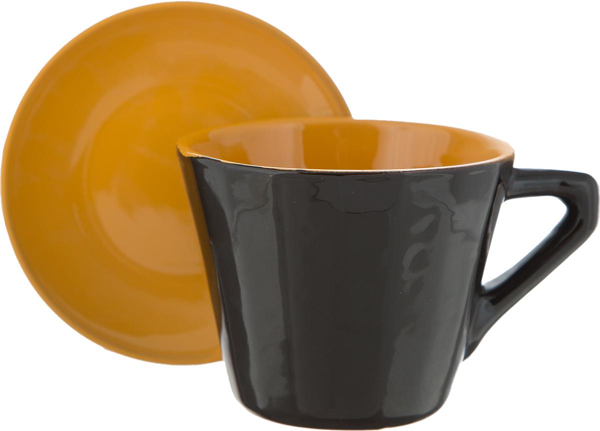 Чайная пара Борисовская керамика Ностальгия, цвет: коричневый, бежевый, 200 млРАД14458002Чайная пара Борисовская керамика Ностальгия состоит из чашки и блюдца, изготовленных из высококачественной керамики. Такой набор украсит ваш кухонный стол, а также станет замечательным подарком к любому празднику.Можно использовать в микроволновой печи и духовке.