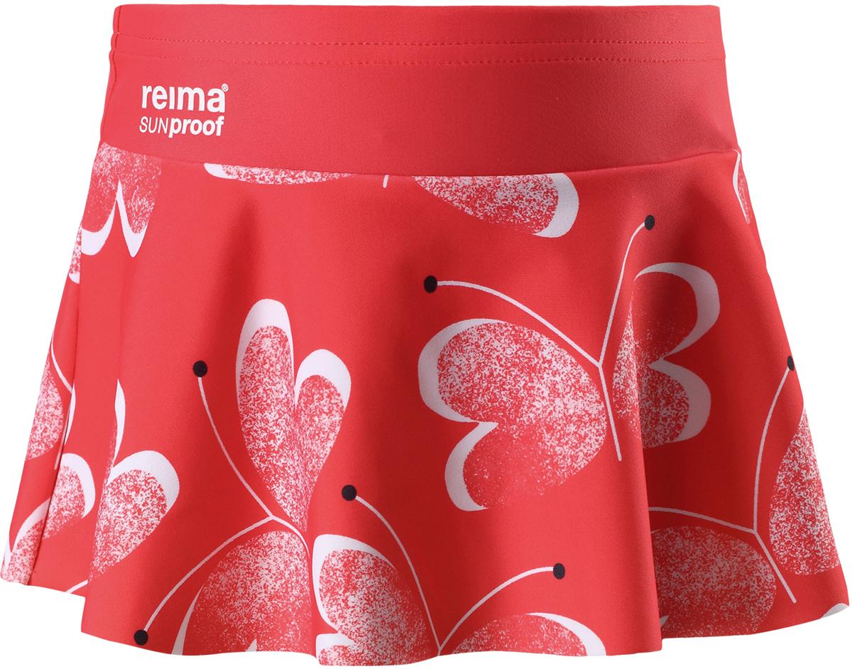 Купальные плавки для девочки Reima Atolli, цвет: розовый, белый. 5262903343. Размер 1045262903343