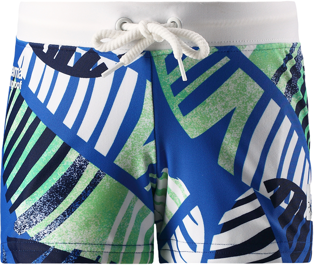 Шорты для плавания для мальчика Reima Tonga, цвет: синий, зеленый. 5262896641. Размер 1045262896641Короткие шорты для плавания от Reima для детей сделаны из материала SunProof с УФ-фильтром 50+. Подходят как для купания, так и для игр на солнце. Шорты – эластичные и быстро сохнущие. Эластичная подкладка спереди привнесет дополнительный комфорт. Пояс на шнурке можно регулировать для хорошей, индивидуальной посадки по фигуре.