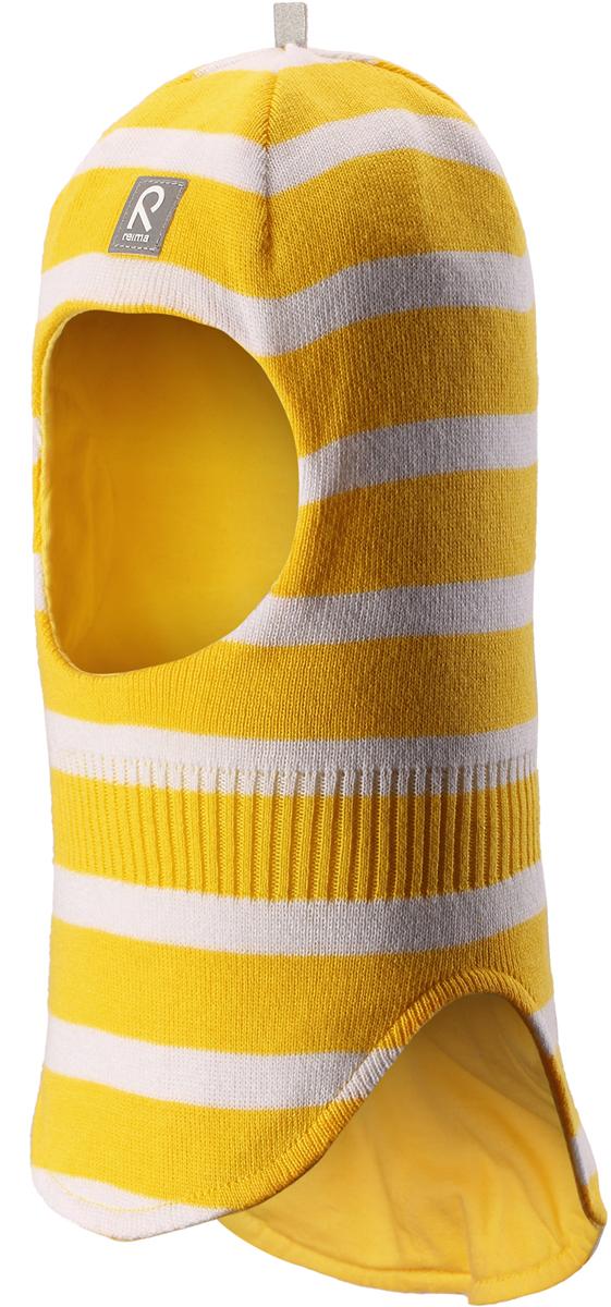 Шапка-шлем детская Reima Honka, цвет: желтый. 5184522331. Размер 485184522331