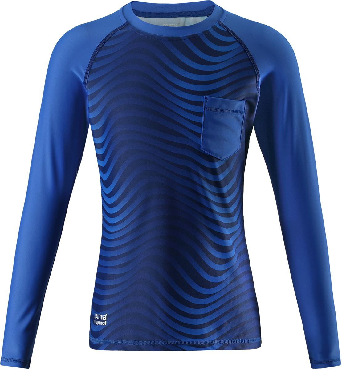 Футболка для плавания для мальчика Reima Bay, цвет: синий. 5362736642. Размер 1465362736642