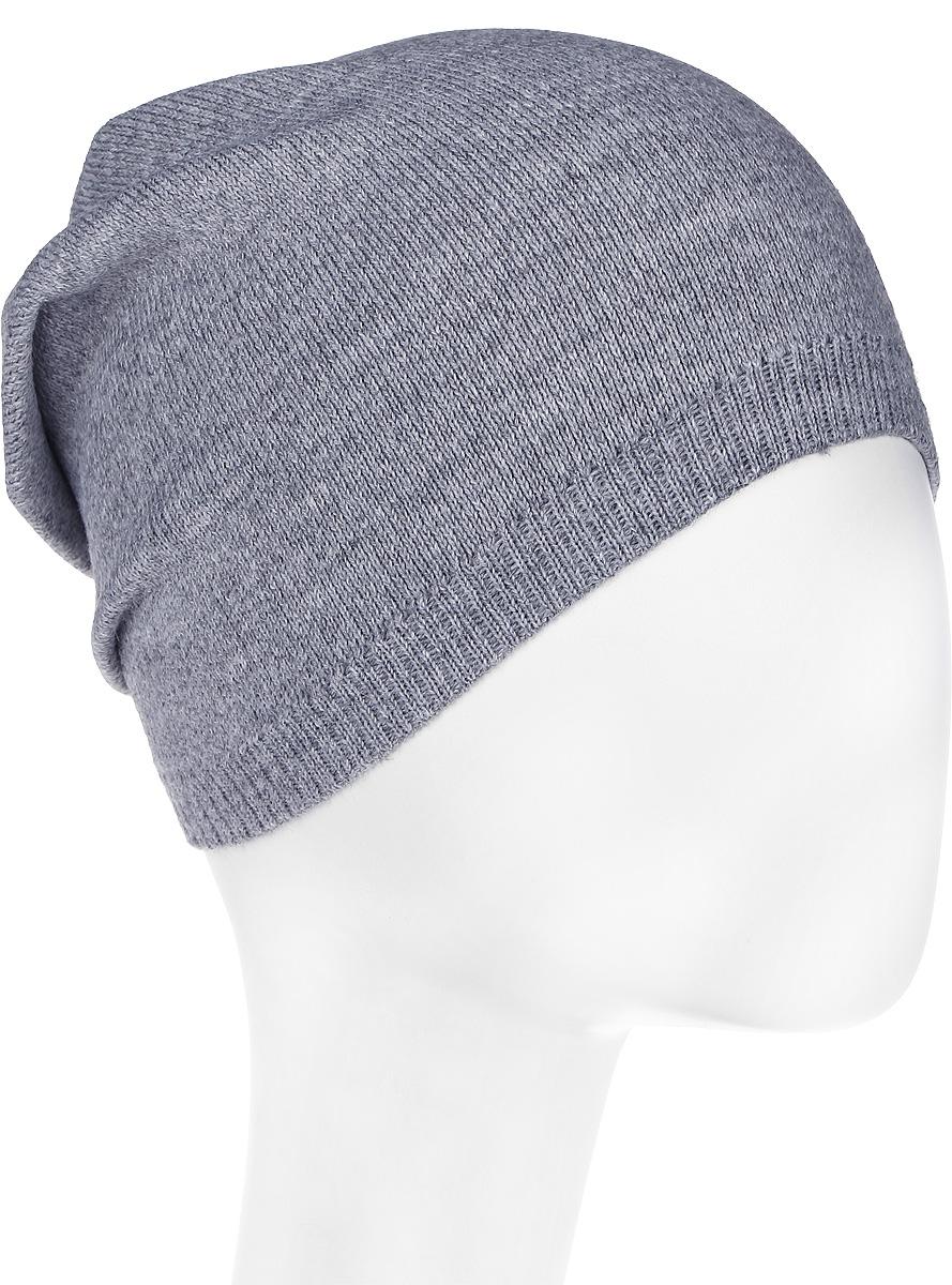 Шапка женская Nuages, цвет: серый. NH-752/11. Размер 52/58NH-752/11Женская вязаная шапка от Nuages двойной вывязки выполнена из хлопково-акриловой пряжи. Декорирована мелкими стразами.