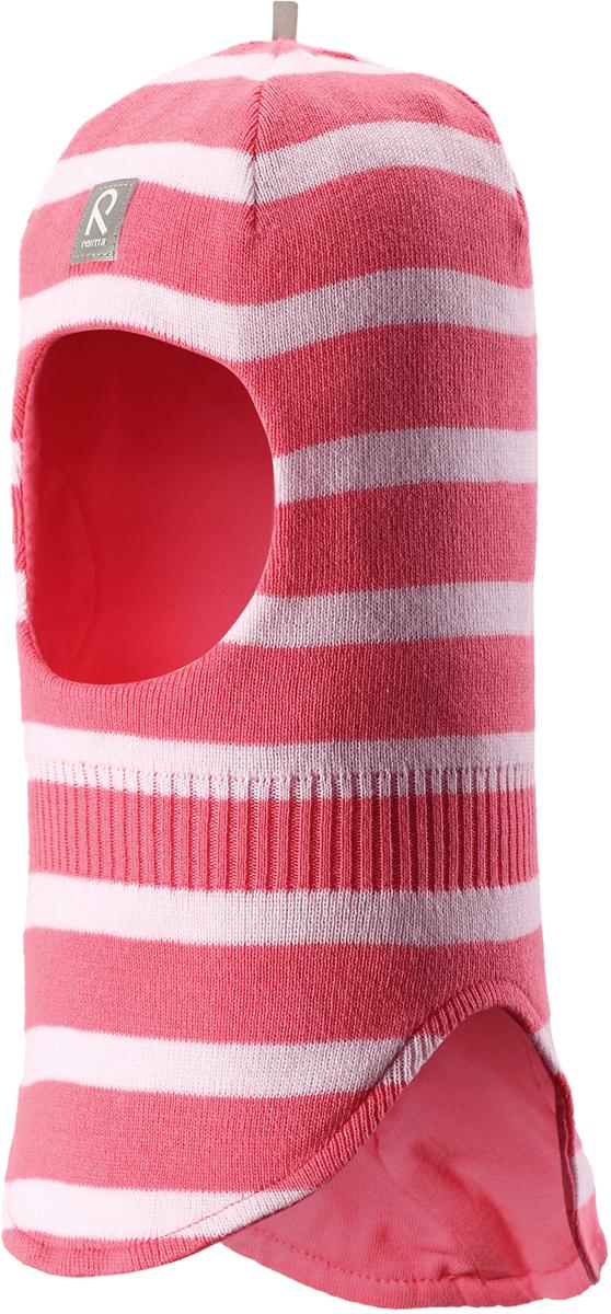 Шапка-шлем детская Reima Honka, цвет: розовый. 5184523291. Размер 525184523291Классическая детская шапка-шлем от Reima– незаменимый аксессуар, ведь она согревает не только голову, но и шею. Эта шапка-шлем сшита из эластичного и дышащего хлопкового трикотажа на подкладке из гладкого хлопкового джерси. Новые свежие весенние расцветки! Изделие сертифицировано по стандарту Oeko-Tex.