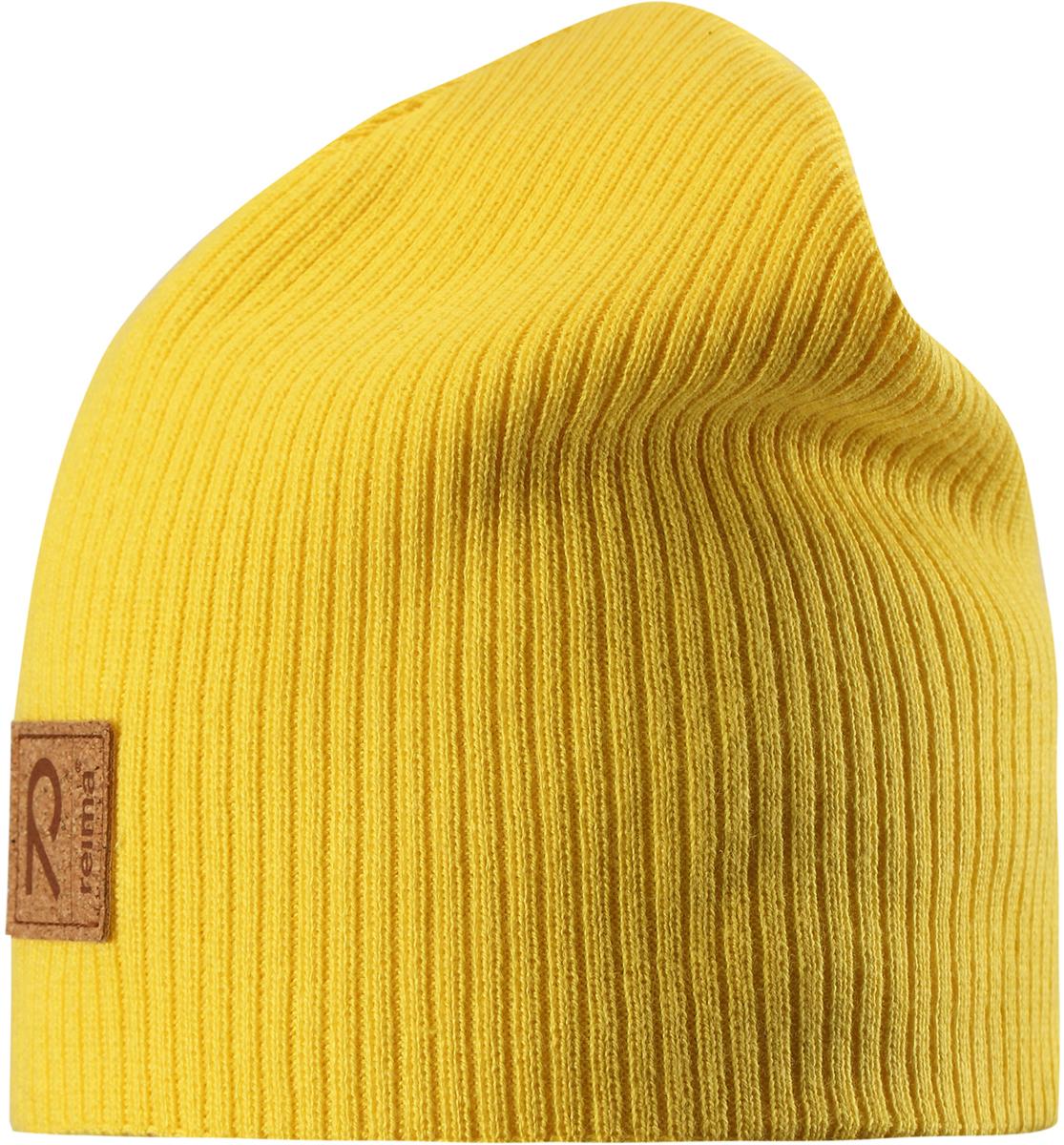 Шапка детская Reima Lahti, цвет: желтый. 5285822330. Размер 48