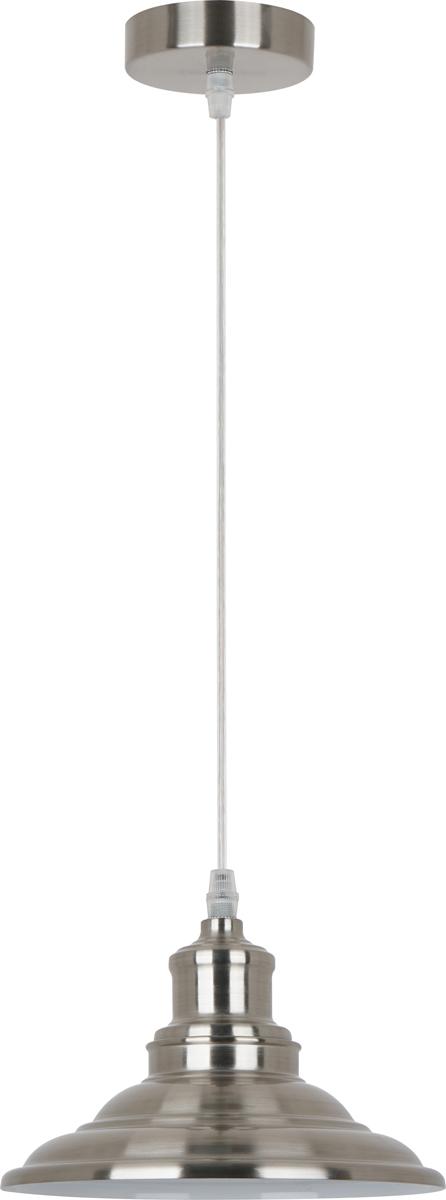 Светильник подвесной Camelion Loft, цвет: серый металлик. PL-600 С3013096Светильник подвесной PL-630 С30 служит как источник освещения для дома. Изготовлен из металла. Хромовые элементы придают светильнику изысканность. Бархатистое фактурное окрашивание выглядит роскошно и повышает срок службы торшера. Можно использовать с любыми типами лампочек, в том числе со светодиодными. С выключателем. Стиль Loft. Преимущества:- современный дизайн; - высокие показатели прочности; - продолжительный срок эксплуатации; - оптимальное соотношение цена/качество.