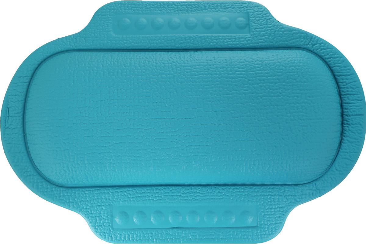 Подголовник для ванны Bacchetta, цвет: бирюзовый, 25 х 34 смATP-502Это изобретение для тех, кто любит понежится в ванной, кто может часы напролет проводить вцарстве ароматных масел, солей и пены. Чтобы сделать процесс приема ванны еще болееприятным и комфортным Bacchetta создали для вас удобный подголовник-подушку для ванной. Подголовник выполнен из высококачественного вспененного ПВХ с вакуумными присосками,которые обеспечивают надежную фиксацию подголовника на поверхности любой ванны илидушевой кабины. Подголовник со временем не выцветает и не красится. Изделие призванообеспечить комфортный прием ванны, а также может использоваться для обеспечения болеебезопасного купания малышей, как защита от ударов.