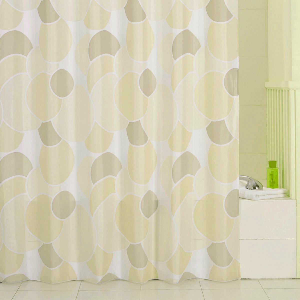 Штора для ванной Iddis Cream Balls, цвет: бежевый, светло-бежевый, белый, 200 x 240 см230P24RI11Штора для ванной комнаты Iddis выполнена из быстросохнущего материала - 100% полиэстера, что обеспечивает прочность изделия и легкость ухода за ним.Материал шторы пропитан специальным водоотталкивающим составом Waterprof.Изделие изготовлено из экологически-чистого материала, оно обладает высокой степенью гигиеничности, не вызывает аллергических реакций.Штора имеет 12 металлических люверсов и утяжеляющую нить. В комплекте: штора и кольца.