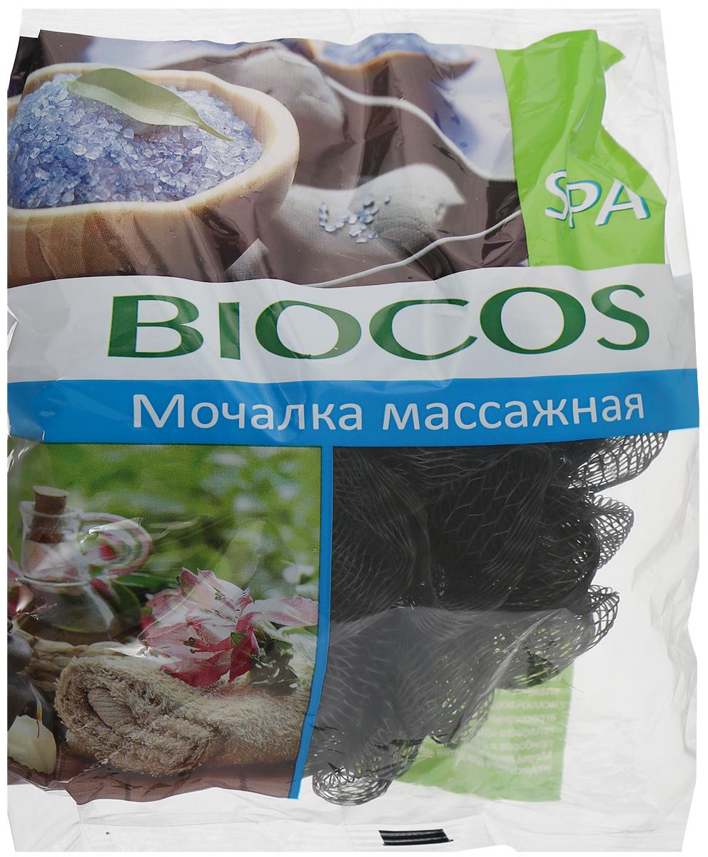 BioCos Мочалка массажная для тела Spa, цвет черный14498_черныйBioCos Мочалка массажная для тела Spa, цвет черный