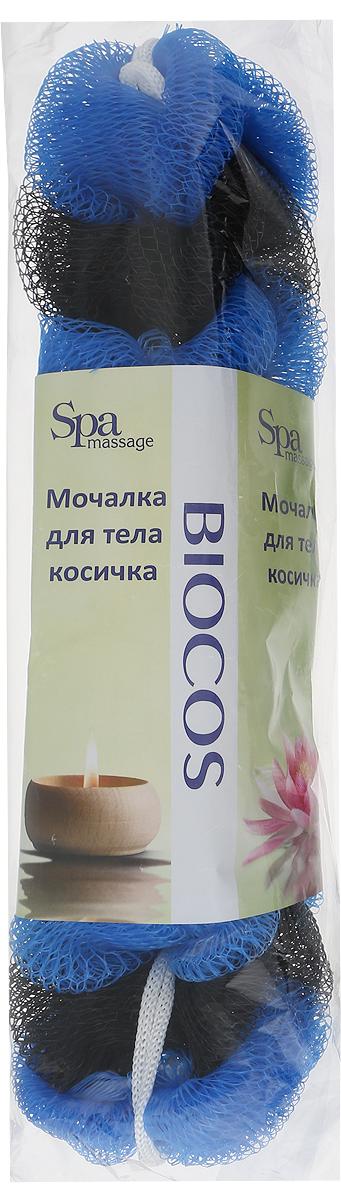 BioCos Мочалка для тела Косичка, цвет: синий, черный5955_синий,черныйBioCos Мочалка для тела Косичка, цвет: синий, черный