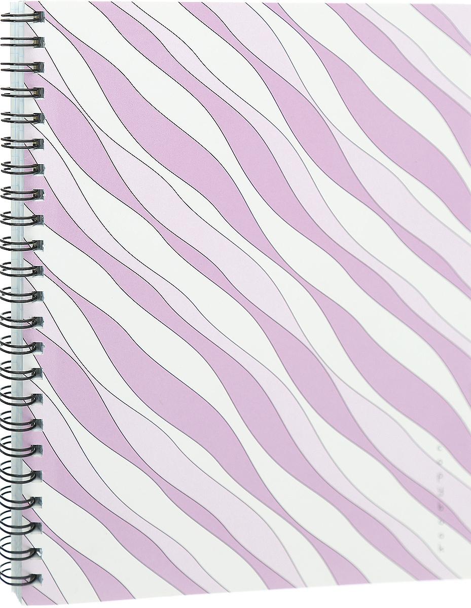 Канц-Эксмо Тетрадь Гармония цвета 96 листов в клетку цвет розовый