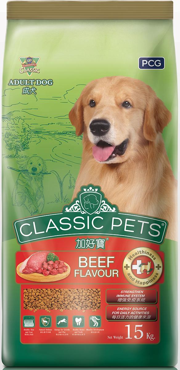 Корм сухой для собак PCG  Классик , говядина, 15 кг - Корма и лакомства