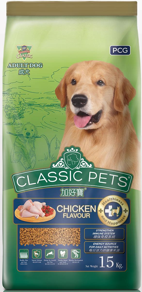 Корм сухой для собак PCG Классик, курица, 15 кг107Ингредиенты: Мука из субпродуктов курицы, куриный жир, кукуруза, рис, кукурузный крахмал, соевая мука, соевый растительный жир, сухие пивные дрожжи, снятое сухое молоко, йодированная соль, витамины и минералы, антиоксиданты и вкусовые добавки. Питательные вещества: Протеин min 27%, Жир min 8%, Клетчаткаmax 4%, Влага max 10%, Углеводы max 60%, Натрий min 0,3%