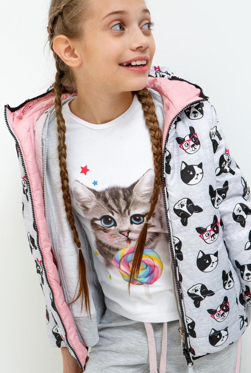 Куртка для девочки Acoola Ples, цвет: серый. 20210130126_1900. Размер 158 acoola для девочки muse серый