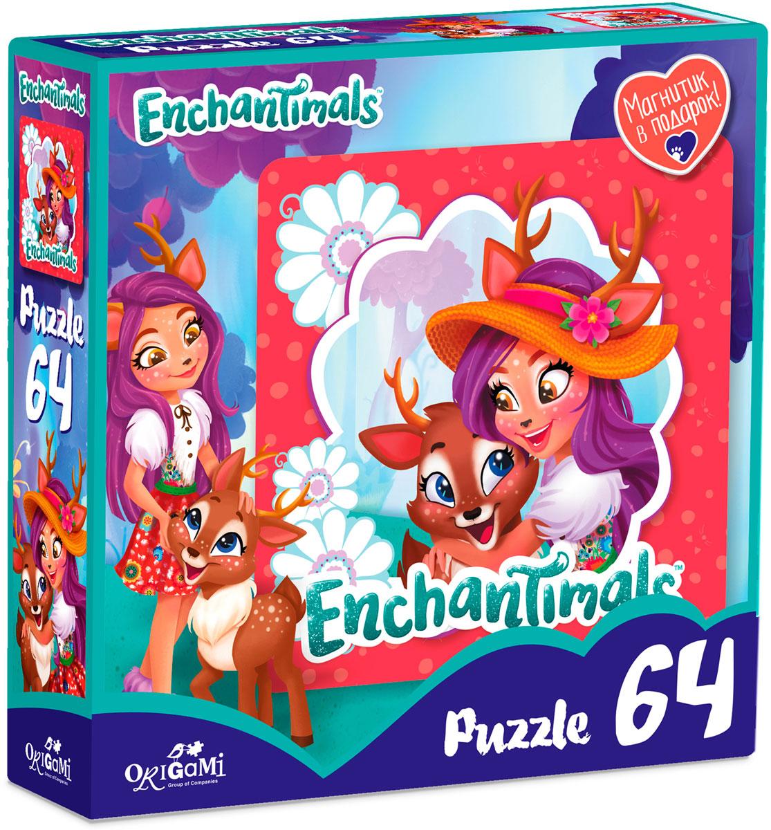 Enchantimals Пазл для малышей Данэсса Оленни и Спринт -