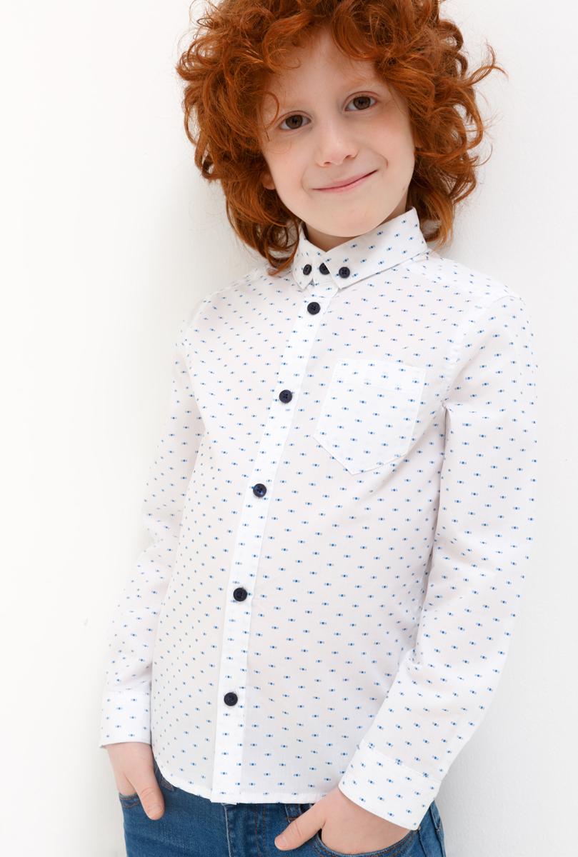 Фото Рубашка для мальчика Acoola Hermes, цвет: белый. 20120280046_200. Размер 110