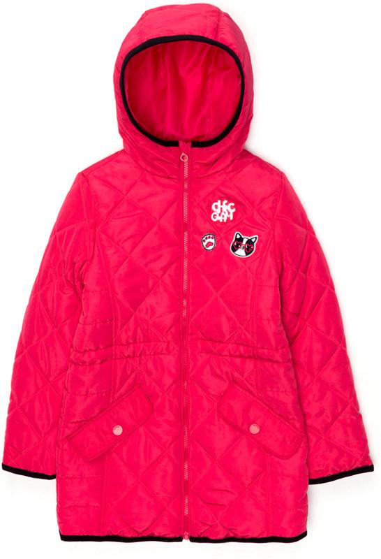 Пальто для девочки Acoola Buddie, цвет: розовый. 20210610025_1400. Размер 13420210610025_1400Стеганое пальто с набивным принтом и яркой подкладкой. Модель с капюшоном, имеется внутренняя кулиска на талии, застежка-молния с защитой подбородка. Прорезные карманы с клапанами на кнопке по бокам.
