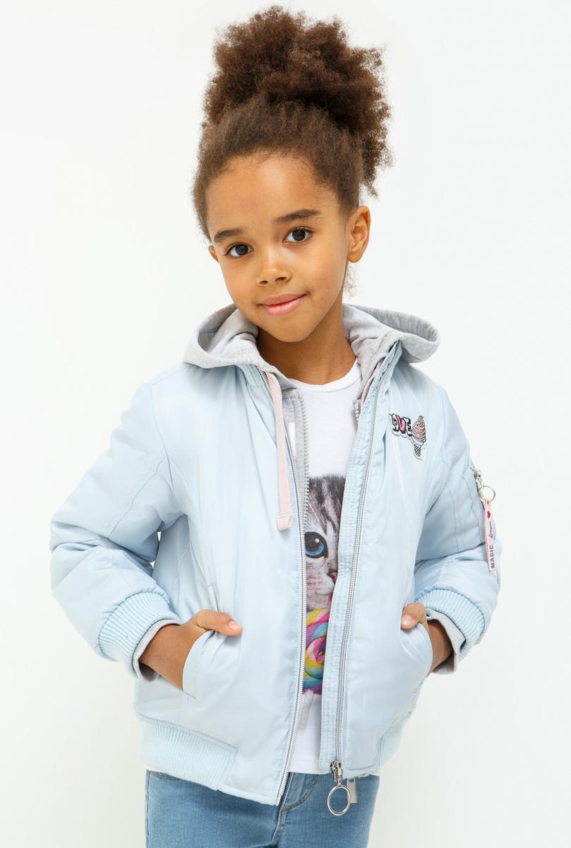 Куртка для девочки Acoola Dorman, цвет: голубой. 20220130119_400. Размер 12220220130119_400Куртка для девочки Acoola изготовлена из качественного полиэстера. Модель со съемным капюшоном застегивается на молнию. Куртка оформлена карманами и яркими принтами. Манжеты рукавов, низ куртки и воротник выполнены с эластичными резинками.
