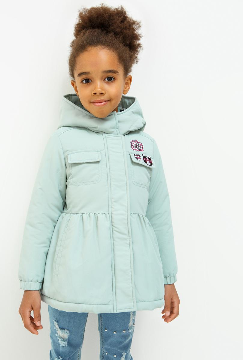 Куртка для девочки Acoola Murl, цвет: бирюзовый. 20220130121_3100. Размер 11620220130121_3100