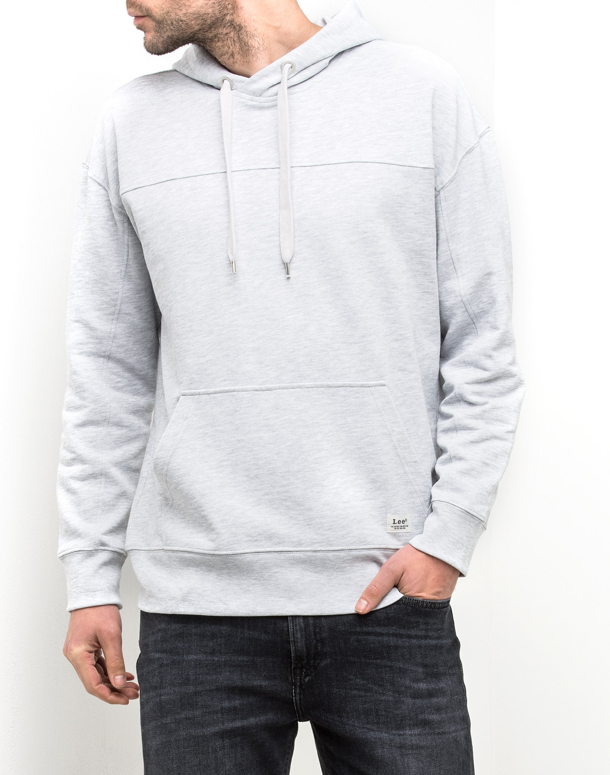 Купить Толстовка мужская Lee, цвет: серый. L80IRO03. Размер S (46)